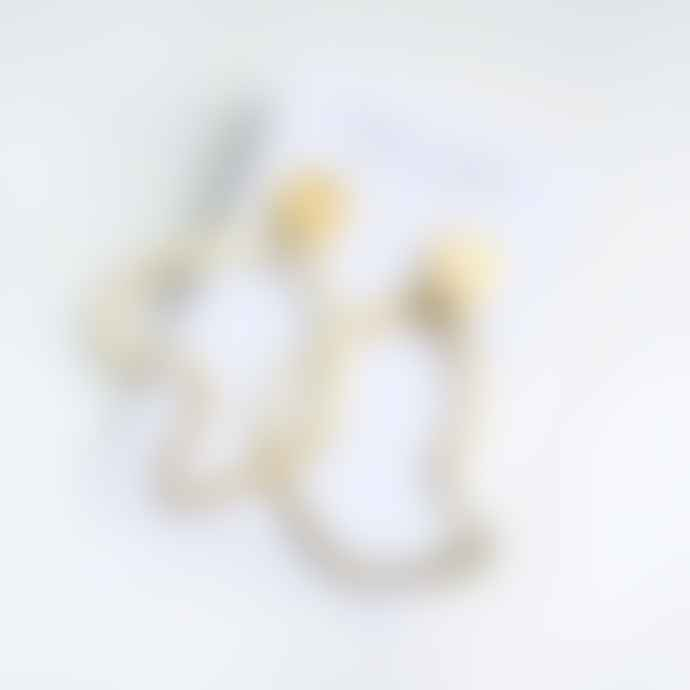lima-lima Brass Hollow Lines Earrings