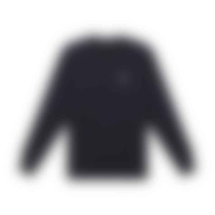 Deus Ex Machina Navy Cotton Dave Shield Crew Sweater