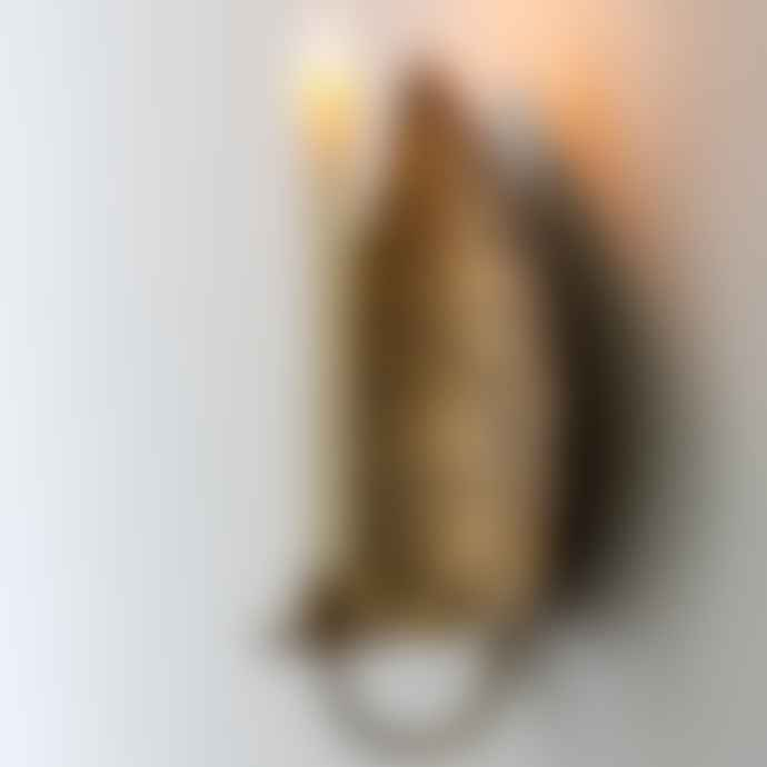 Grand Illusions Gold Leaf Wall Sconce