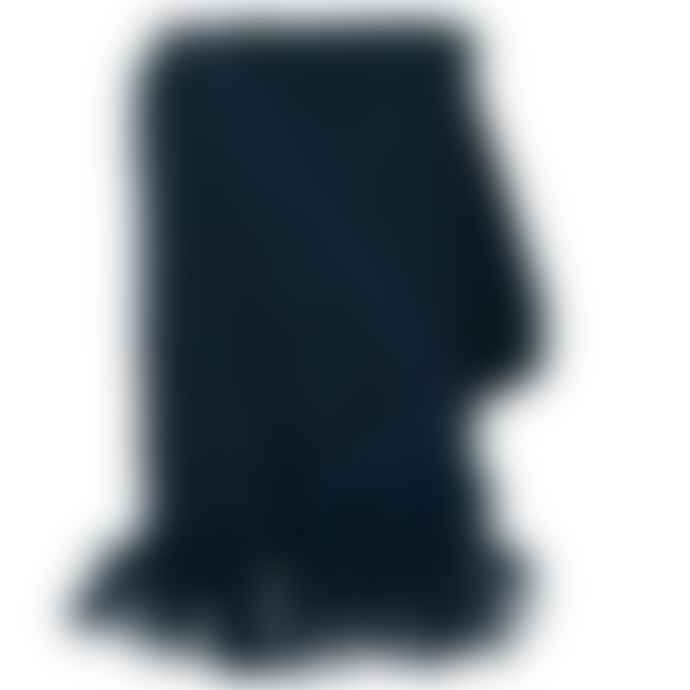 Cozy Living Mohair Wool Blend Throw In Midnight Blue