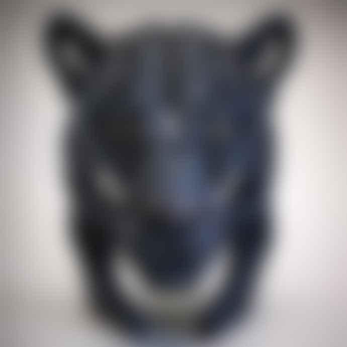 Black Panther Bust Edge Sculpture