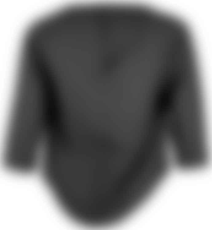 Format TARA Black Plain Blouse