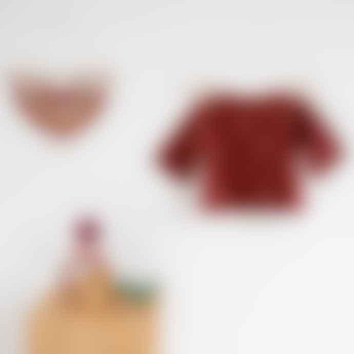 Organic Zoo Dots Layer Burgundy Sweatshirt