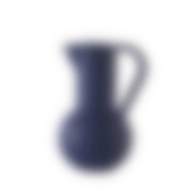raawii Large Blue Earthenware Jug
