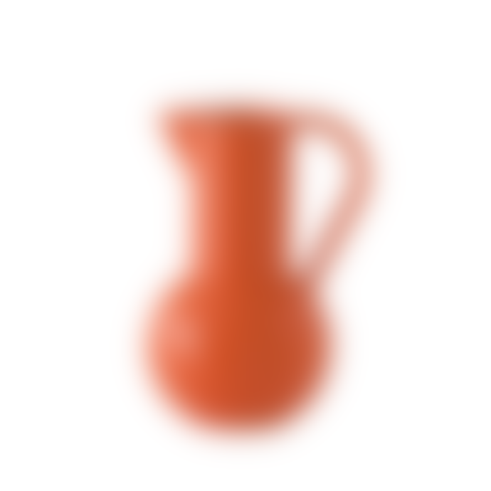 raawii Large Orange Earthenware Jug