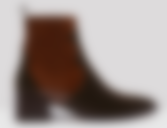 Miista Minea Dark Brown Patent Leather Boots