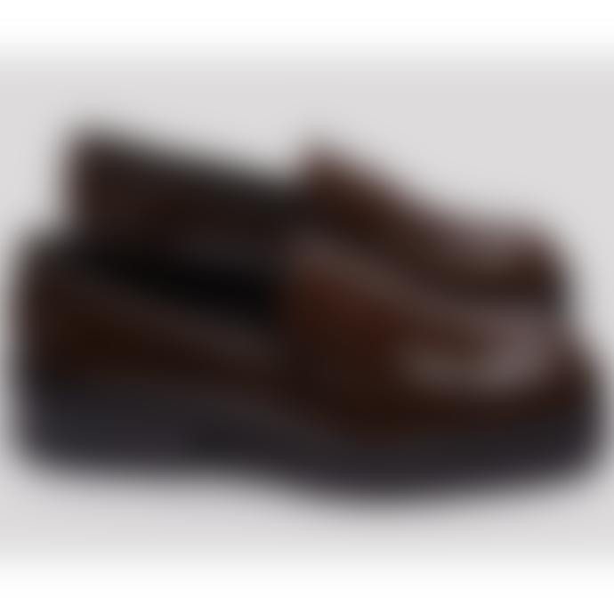 Miista Elsie Dark Brown Patent Leather Loafers