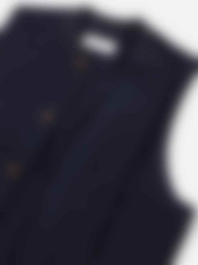 Universal Works Chore Waistcoat In Navy Mowbray