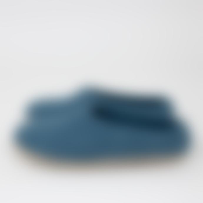 Afroart Blue Slip Felt Slippers