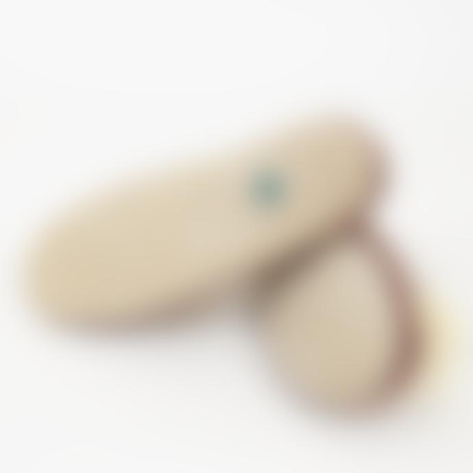 Afroart Plum Slip Felt Slippers
