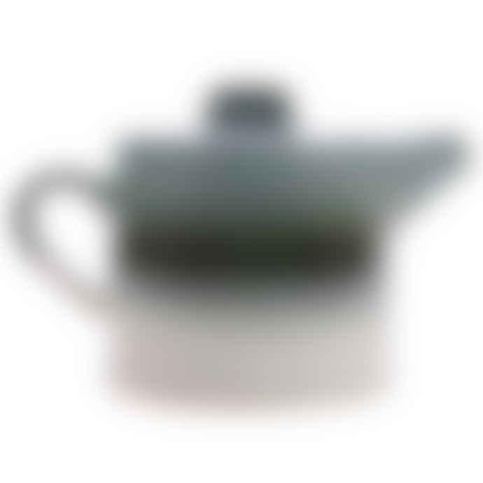 HKliving Ceramic 70's Teapot: Glacier