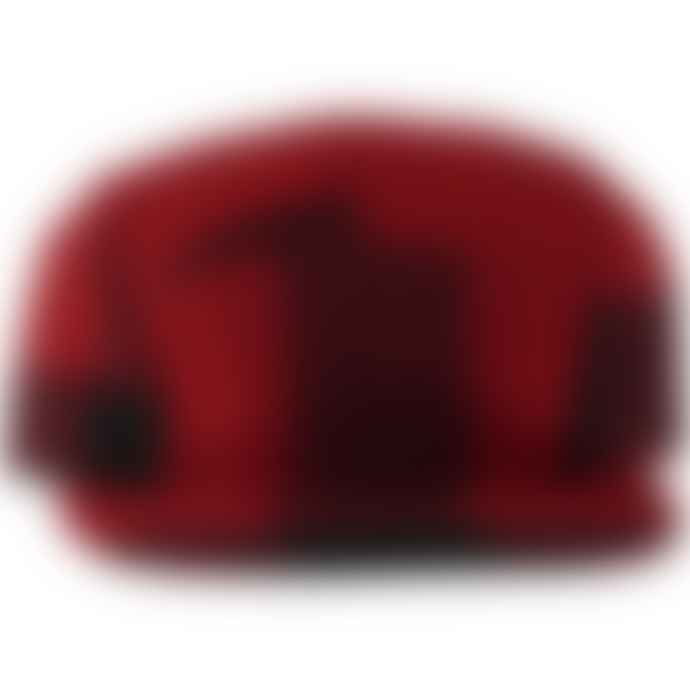Filson 5 Panel Wool Cap Red Black