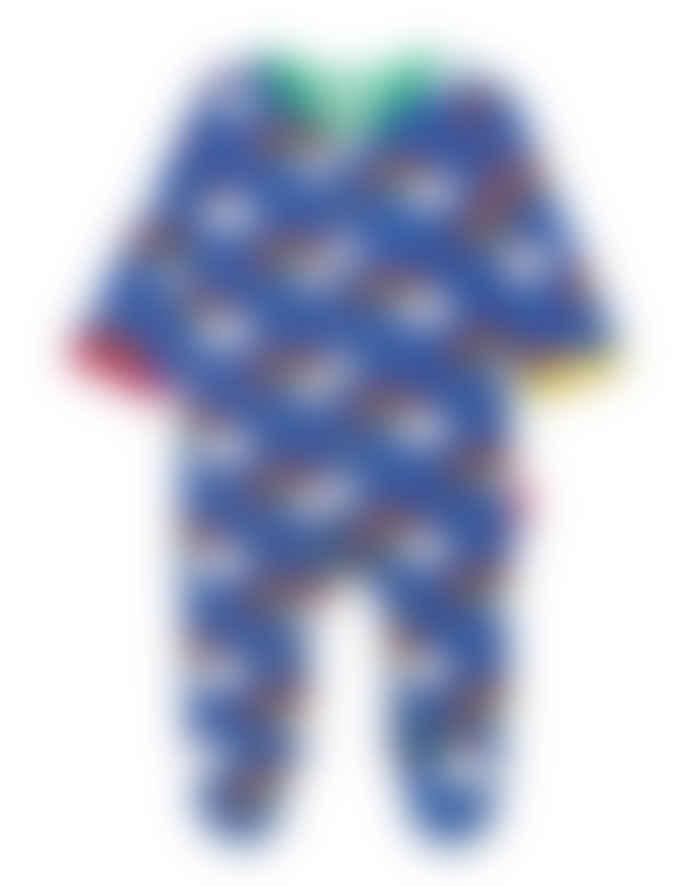 Toby Tiger Organic Rainbow Print Sleepsuit