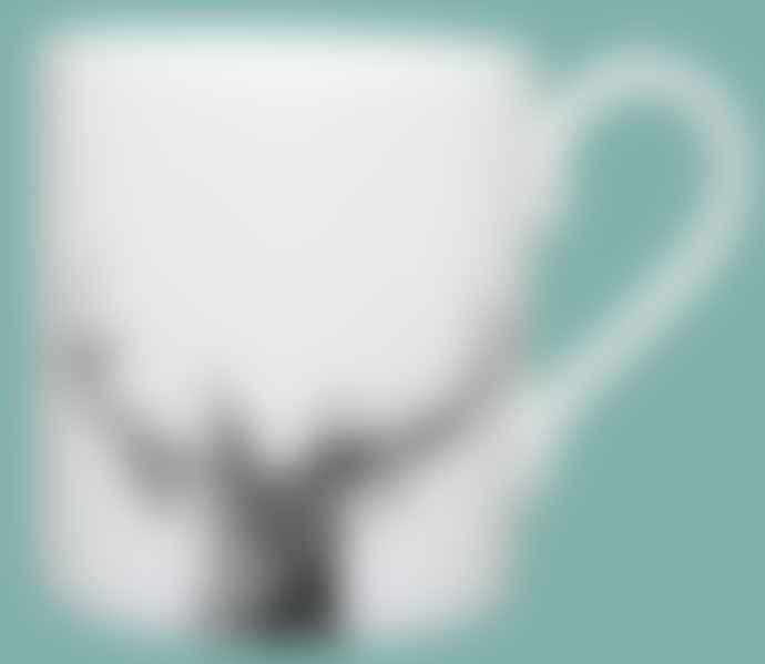 Little Weaver Arts Majestic Stag Fine Bone China Espresso Cup