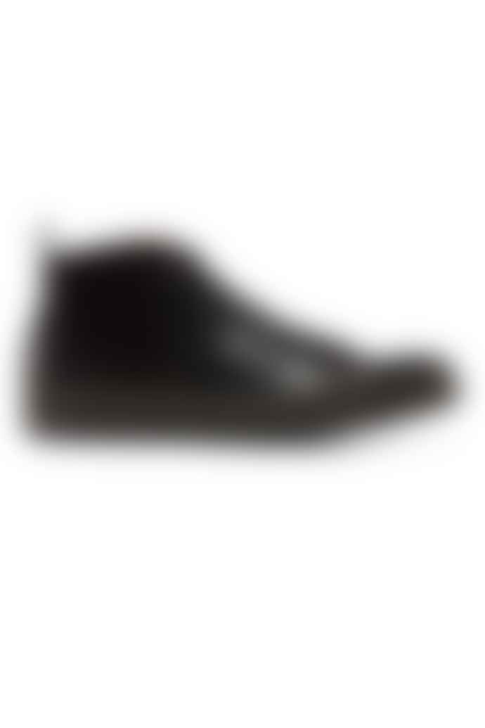 Fred Perry Black Leather George Cox Creeper Mid Shoes