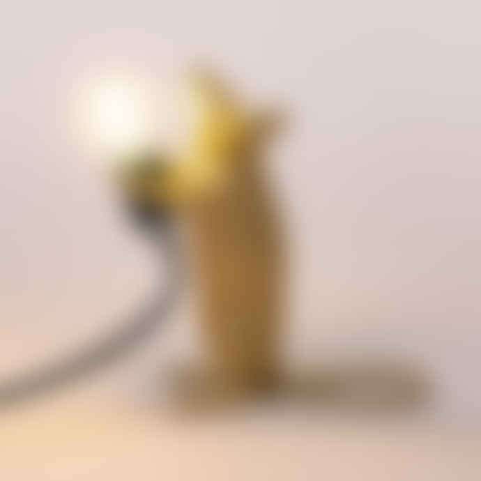 Seletti Gold Standing Mouse Lamp with black cable -UK