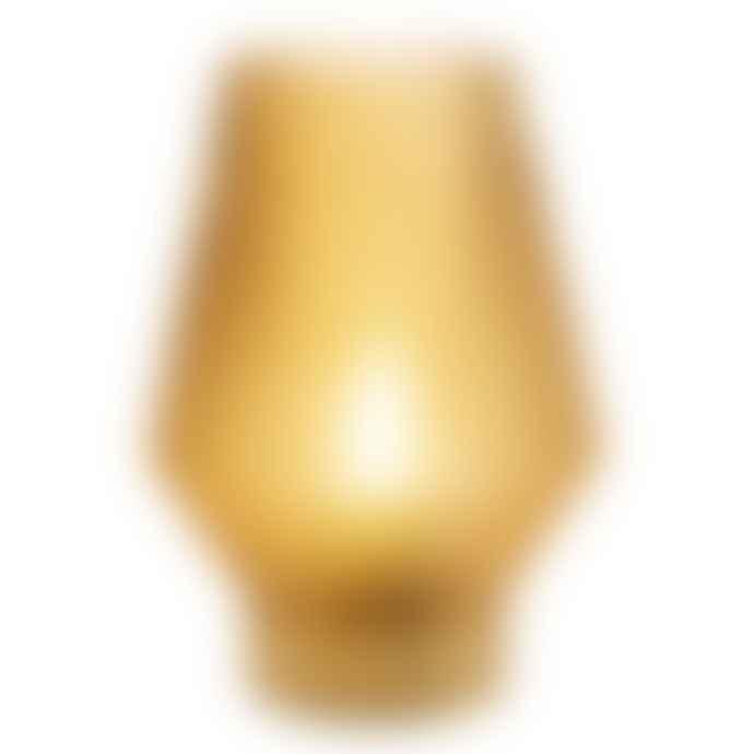 White Mint Amber Diamond Glass LED Lamp