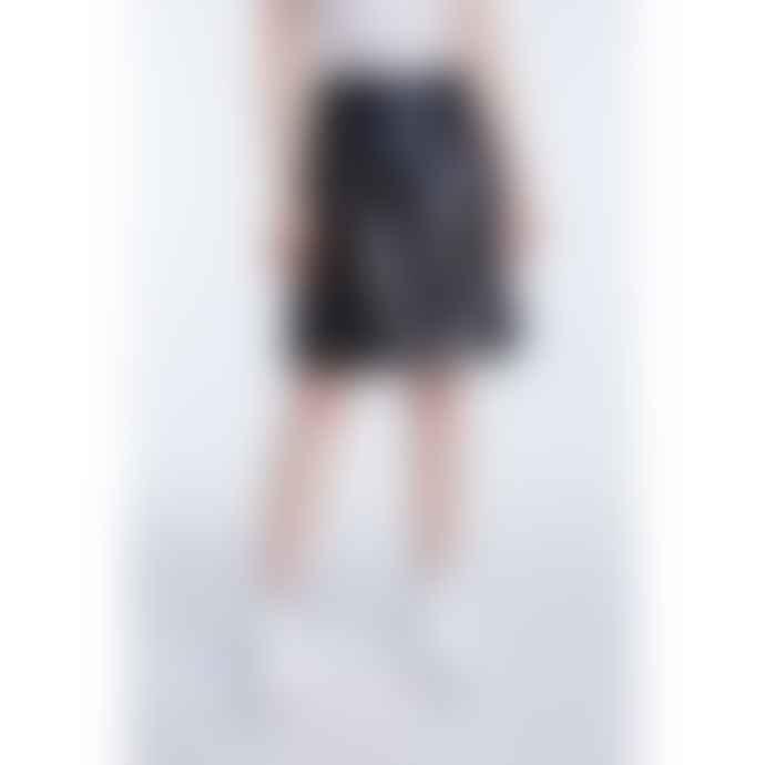 Set Fashion Vegan Leather Black Skirt