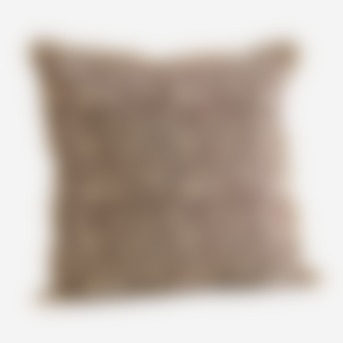 Madam Stoltz Cotton Cushion Cover with Fringes
