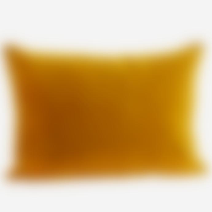 Madam Stoltz Mustard Velvet Cushion