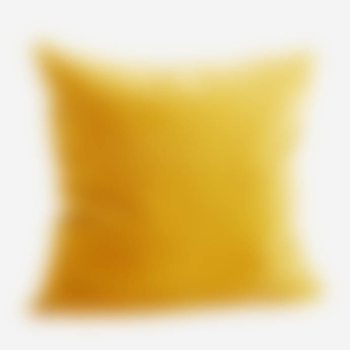 Madam Stoltz Curry Velvet Cushion
