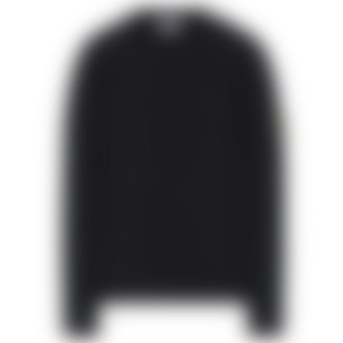 Stone Island Black Wool Crewneck Knitwear