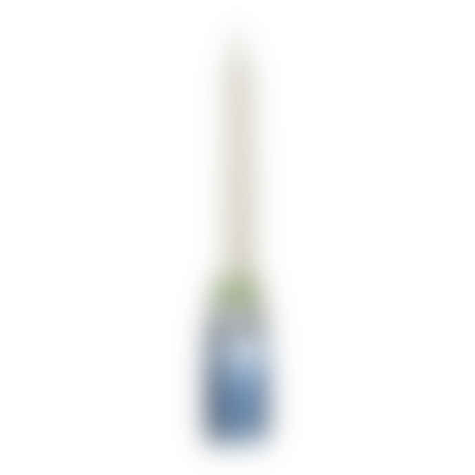 Bloomingville Ridged Glass Blue Candle Stick Small