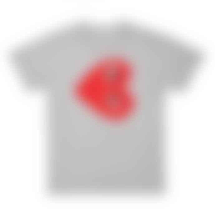 Comme Des Garcons Play Comme des Garçons Red Heart T-Shirt (Grey) P1T264