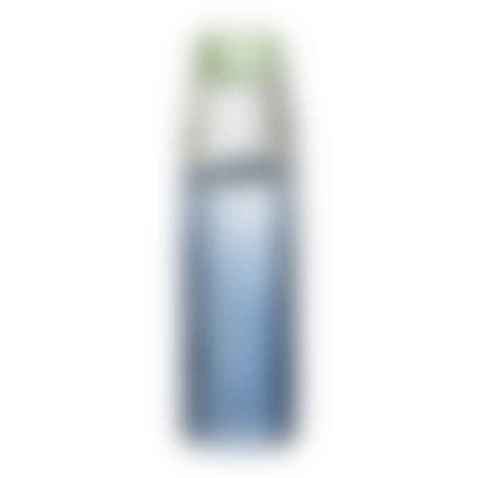 Bloomingville Ridged Glass Blue Candlestick Large