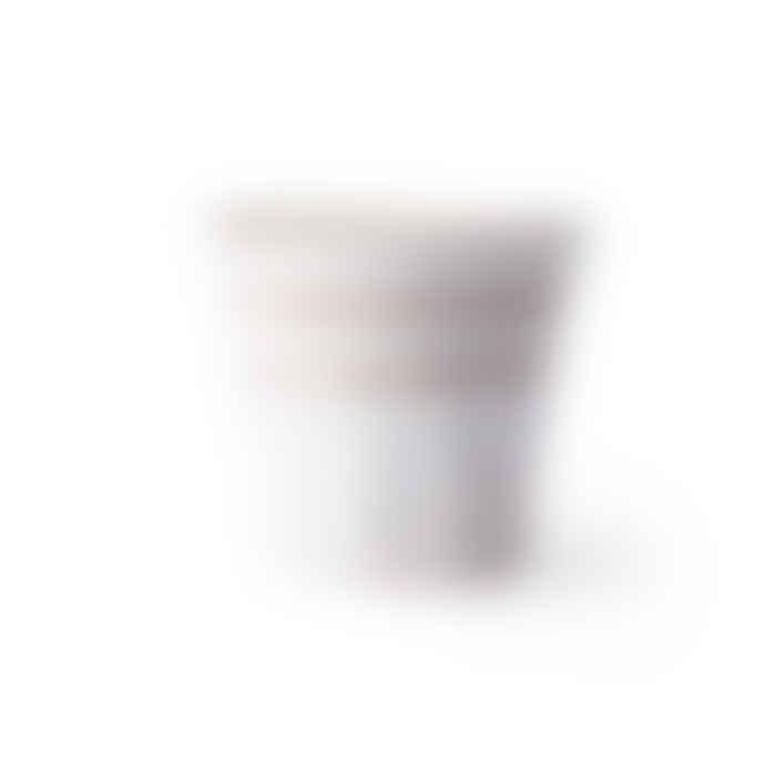 HKliving Bold & Basics Ceramics: Mug White/Terra
