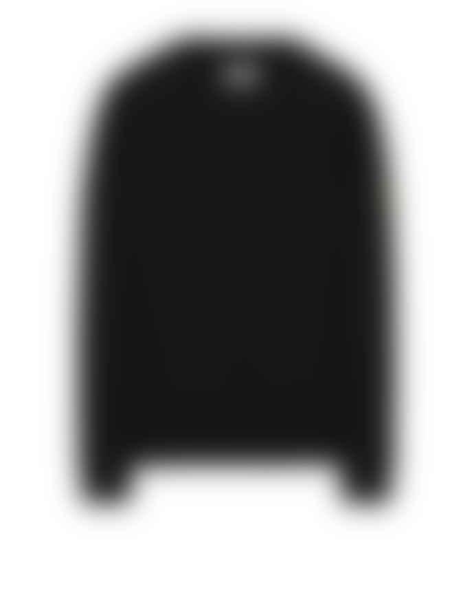 Stone Island Black Cotton Old Dye Treatment Crewneck Sweatshirt