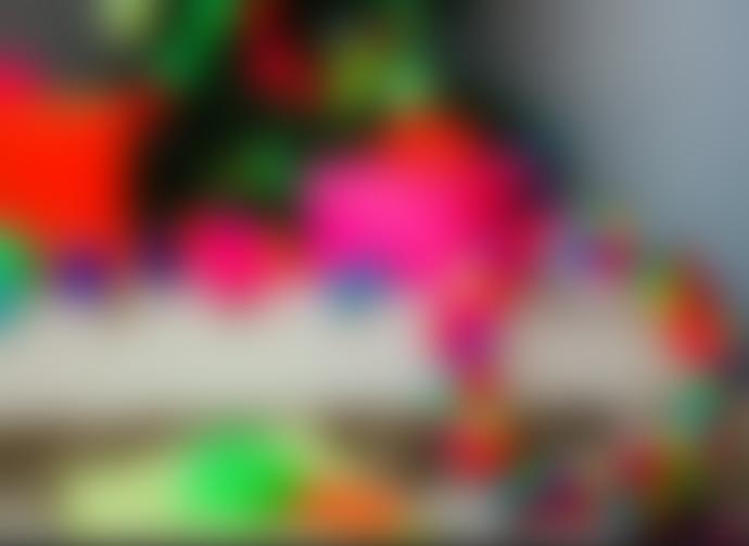 PomPom Galore Wool Multi-coloured Pom Pom Wreath