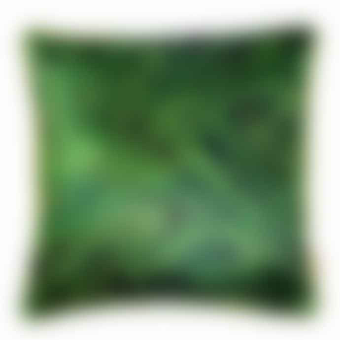 Susi Bellamy Malachite Marbled Velvet Cushion