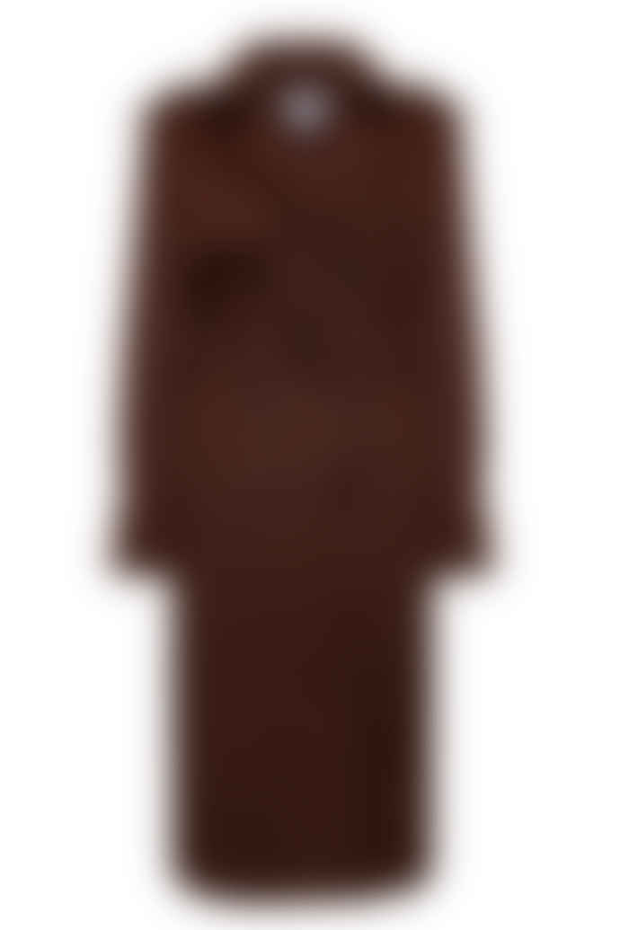 Jovonna London Brown Trish Long Trench Coat