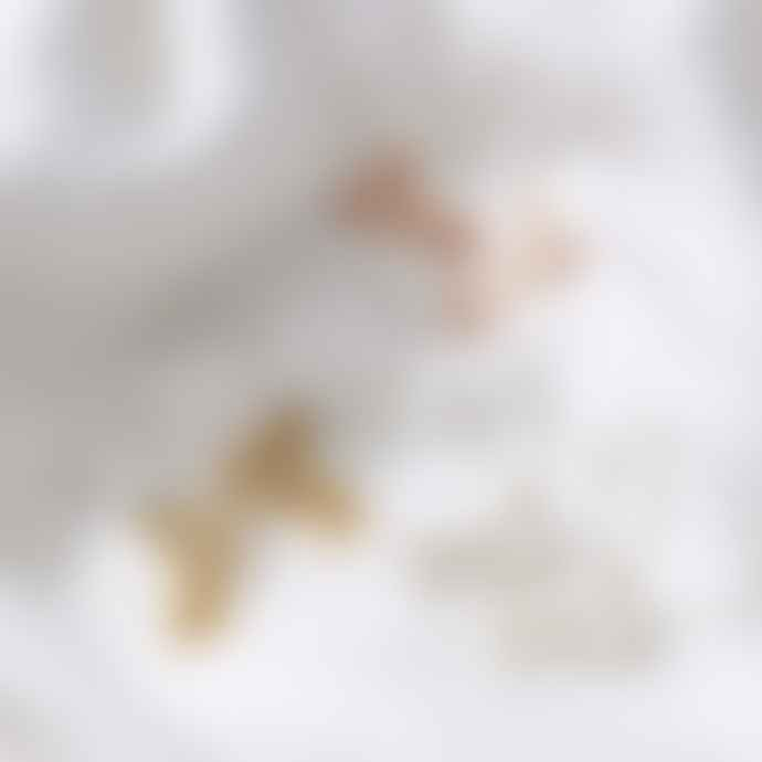 Posh Totty Designs 18ct Gold Plate Coral Hoop Earrings
