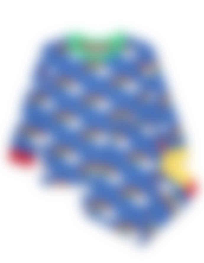 Toby Tiger Organic Rainbow Print Pyjamas