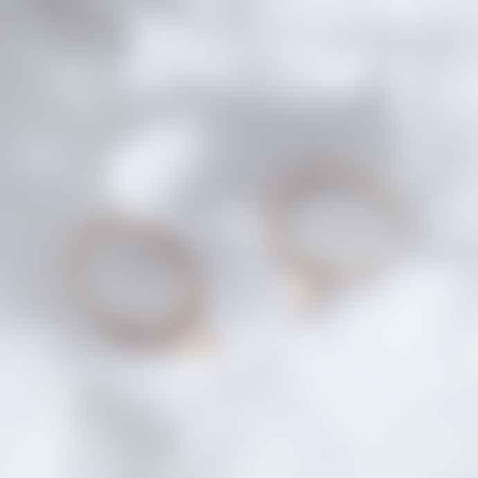 18ct Gold Plate Large Hoop Moon Charm Earrings