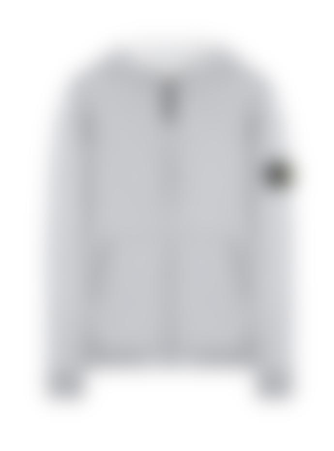 Stone Island Grey Hooded Zip Sweatshirt