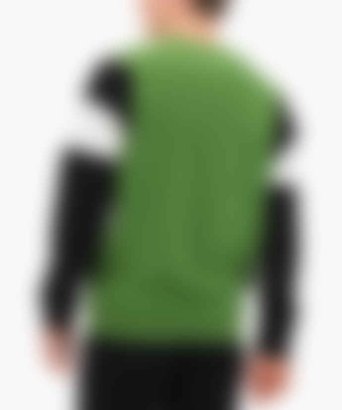 Champion Green Colour Block Cotton Terry Sweatshirt