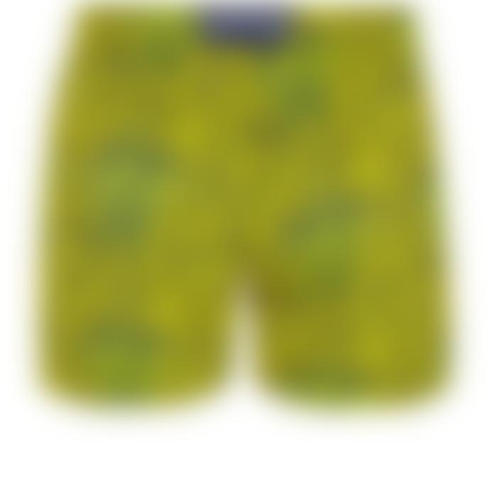 Vilebrequin Citron Polyamide Moorise Superflex Shell Turtles Swim Shorts