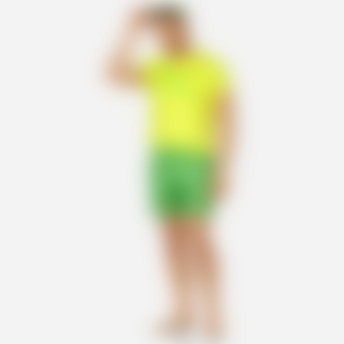 Vilebrequin Green Polyester Micro Ronde Des Tortues Fluor Mahina Swim Shorts