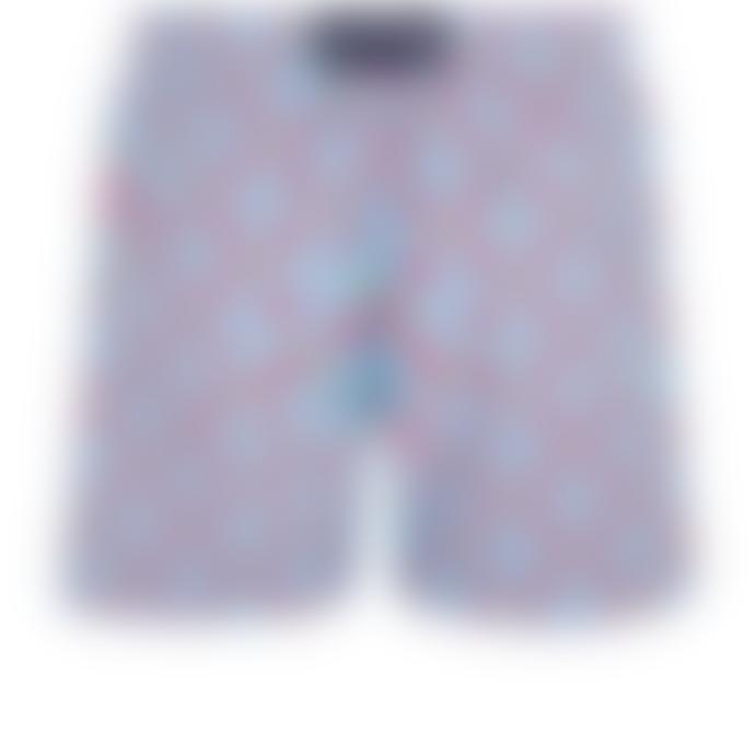 Vilebrequin Cherry Blossom Polyamide Data Turtles Moorea Swim Shorts
