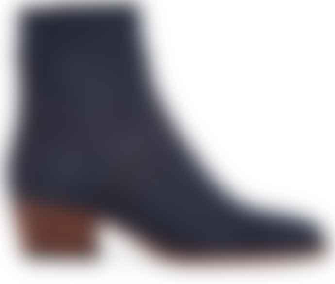 Hudson Shoes Beryl Navy Nubuck Boot
