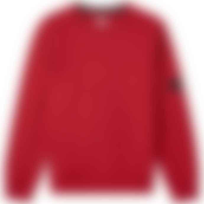 C.P. Company Scooter Cotton 07CMSS082A005086W/576 Light Fleece Arm Lens Crew Sweatshirt