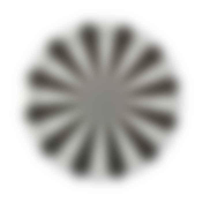 Meri Meri Pack of 8 Large Black Fan Stripe Plates