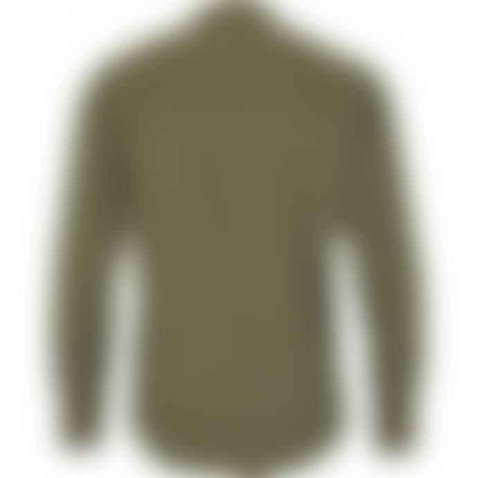 Kronstadt Dean Henley Mandarin Shirt Army