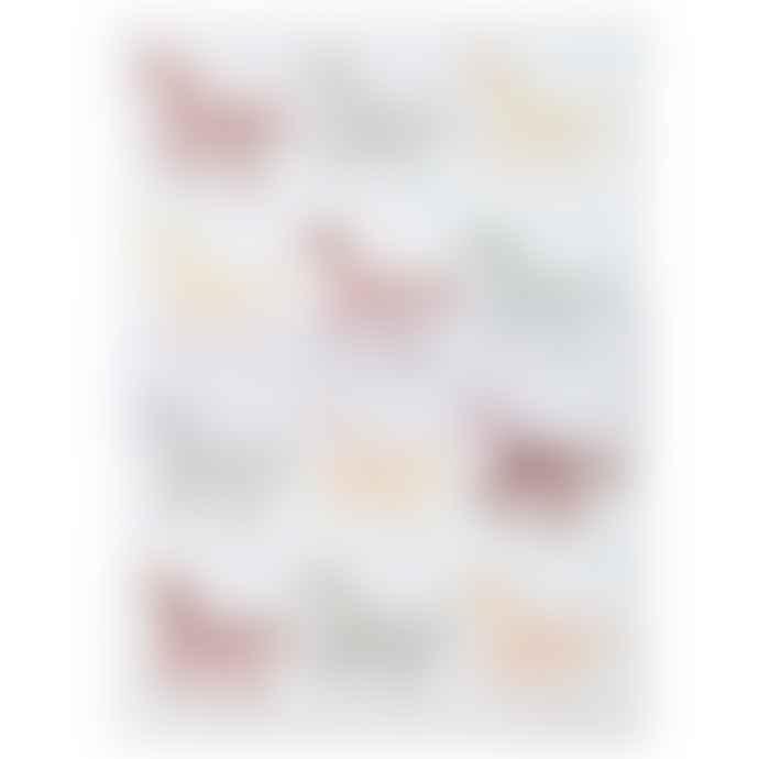 Meri Meri Pack of 10 Glitter Unicorn Sticker Sheets