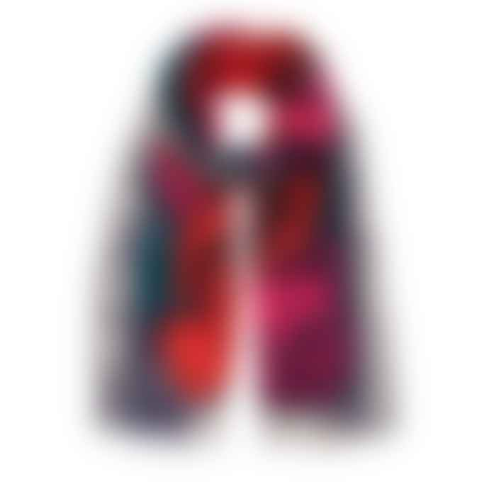 Inouitoosh  Roseanna red pink scarf