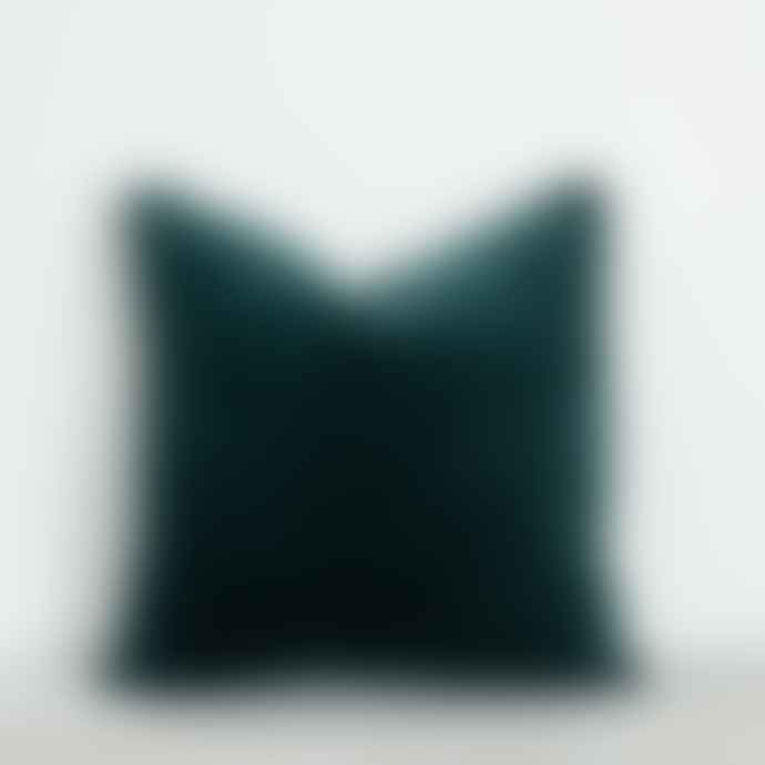 Also Home Luxury Velvet Square Cushion with Piped Edge - 11 Colours Available