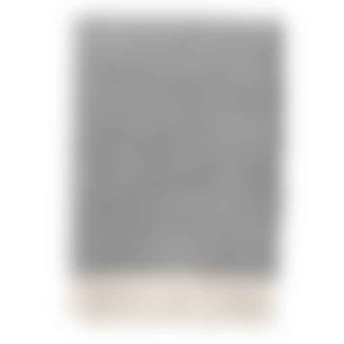 Klippan Yllefabrik Dark grey wool throw